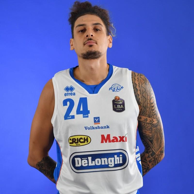 Completo da gara ufficiale De'Longhi Treviso Basket, indossato da Isaac Fotu nella stagione 2019/20 in Serie A