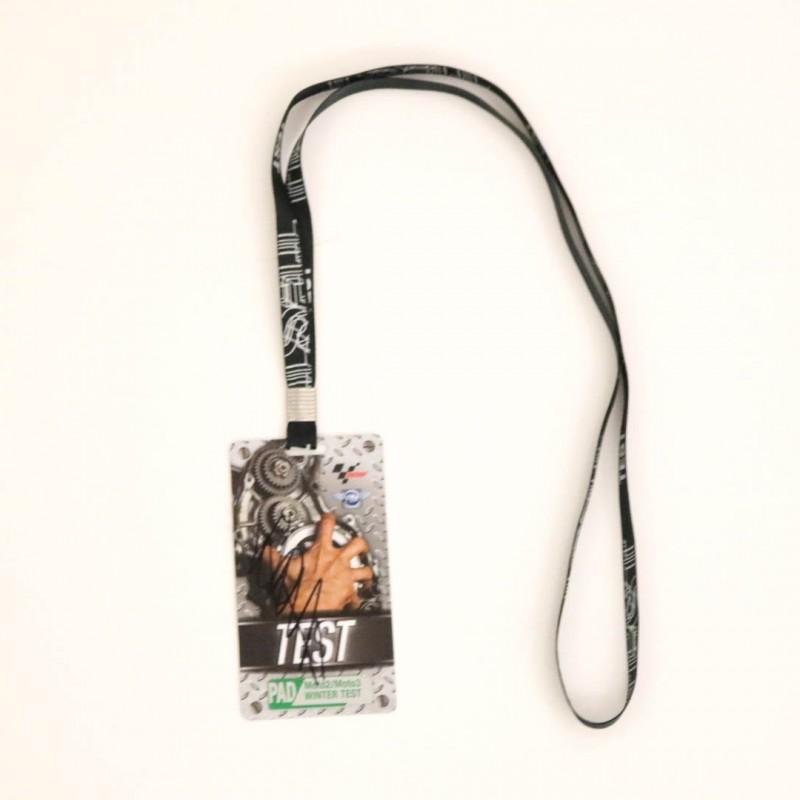 Winter Testing Paddock Pass Signed by Valentino Rossi