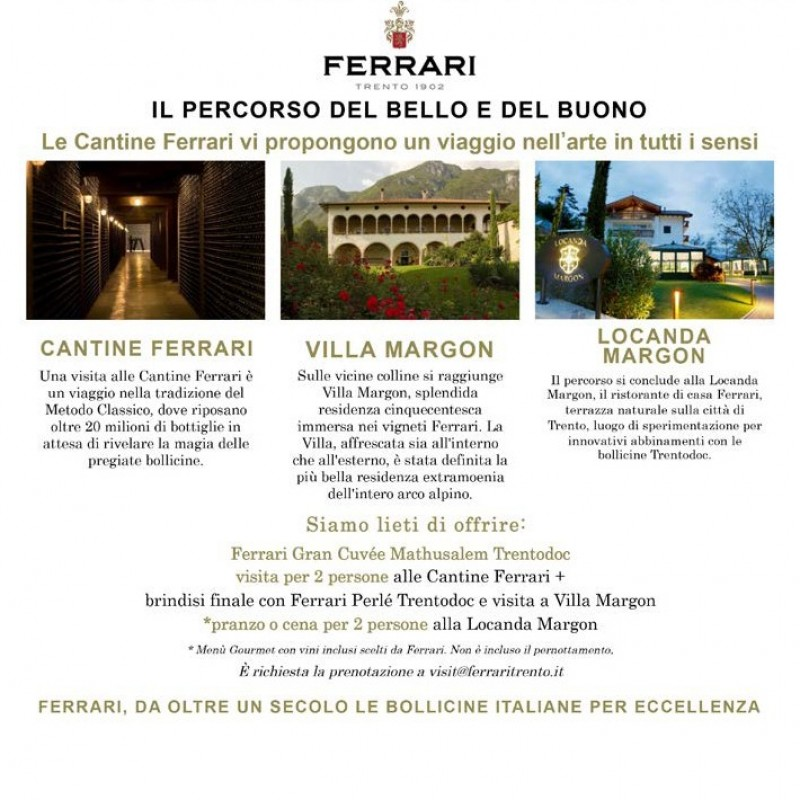 Ferrari Wine Cellars Gourmet Experience for 2