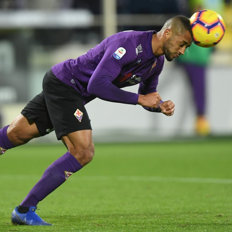 Vitor Hugo's Worn Shirt with Mandela Patch, Fiorentina-Juventus