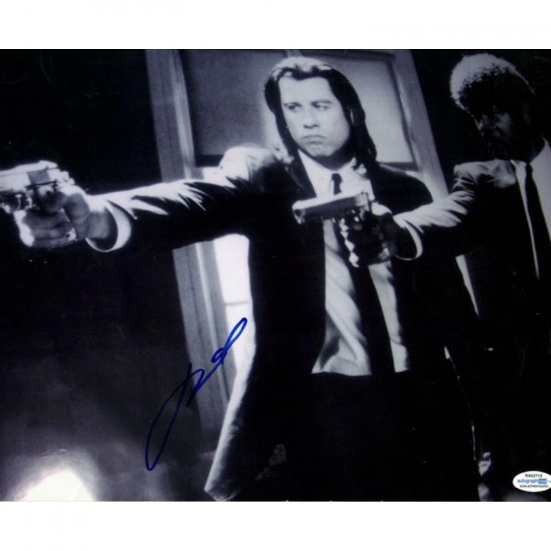"John Travolta ""Pulp Fiction"" Hand Signed 11""x14"" Photo"
