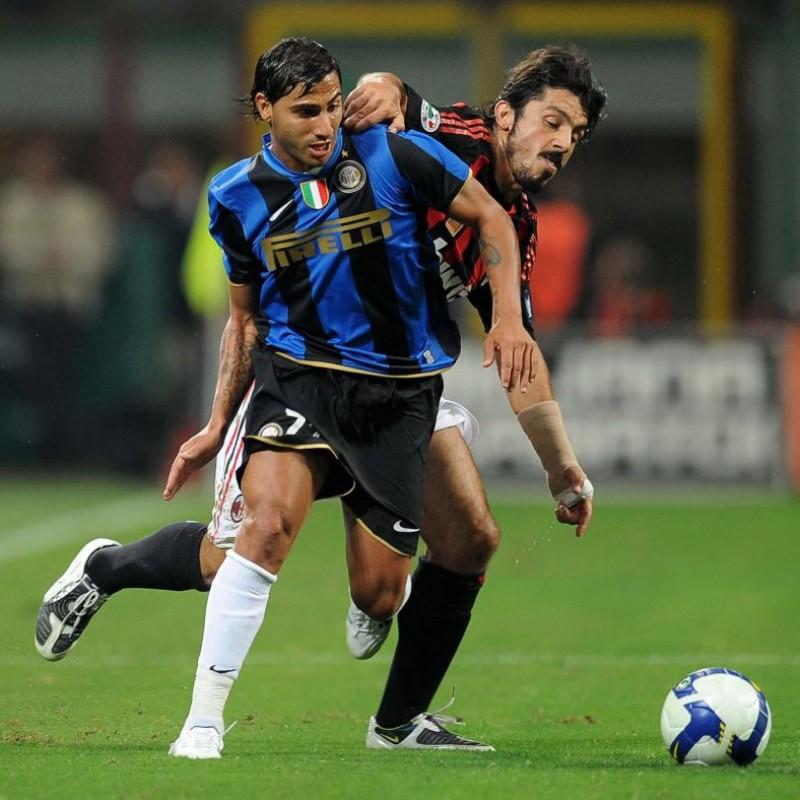 Quaresma's Match-Worn Milan-Inter Shirt, Serie A 2008/09