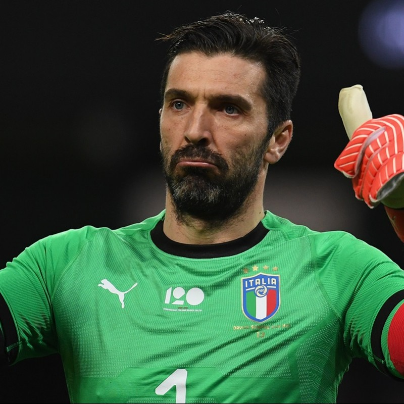 Buffon's Italy Match-Issued Signed Shirt, 2018