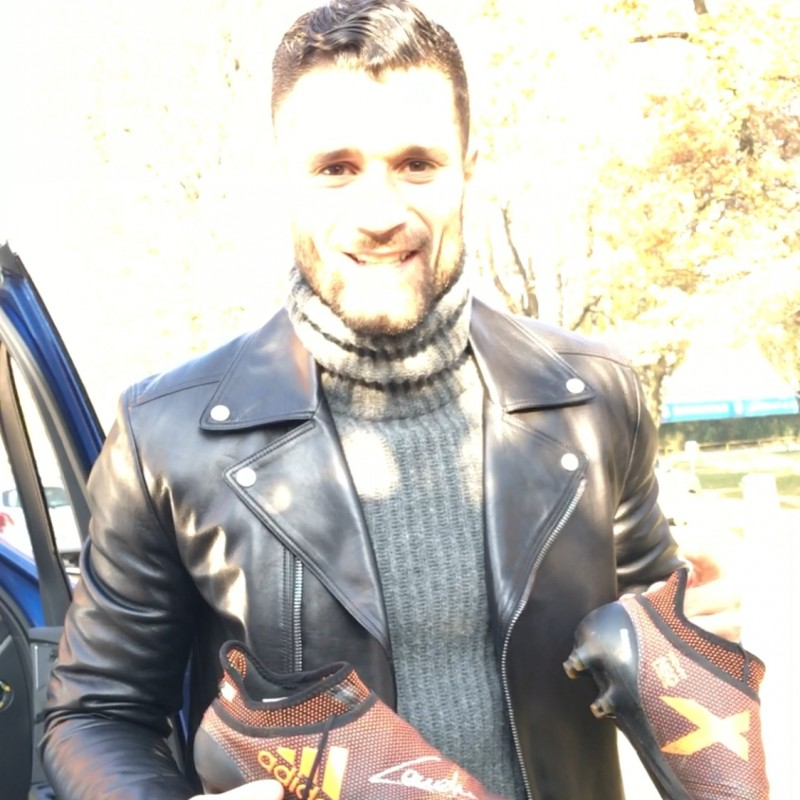 Candreva's Signed Match-Worn Adidas Cleats, Serie A 2017/18