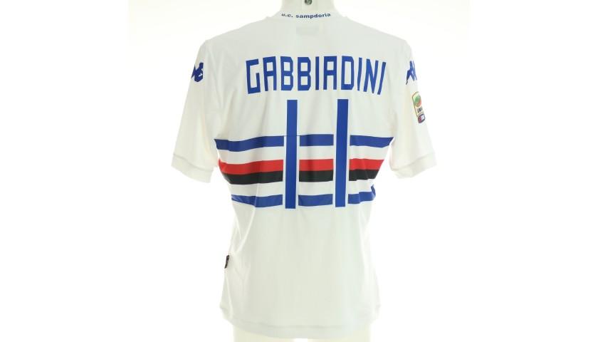 Gabbiadini's Worn and Unwashed Shirt, Torino-Sampdoria 2014