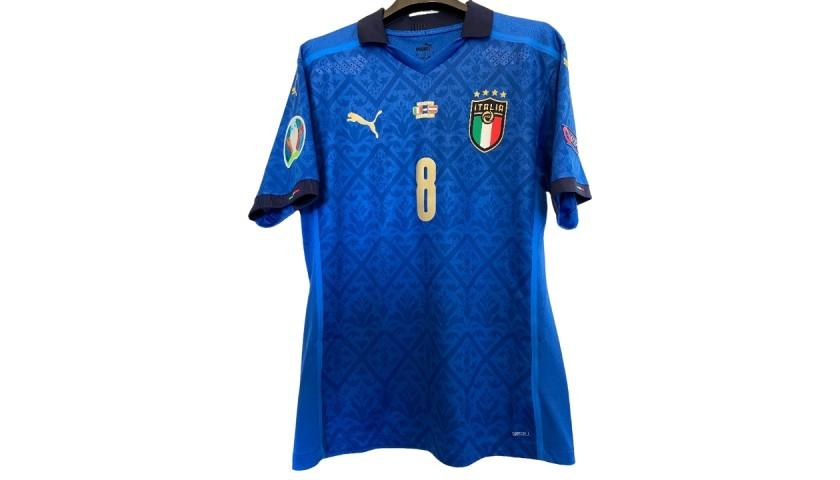 Jorginho's Match Shirt, Italy-Austria 2021