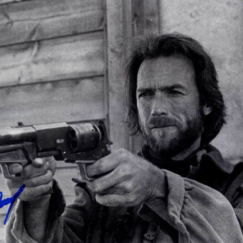 Clint Eastwood Hand Signed Poster