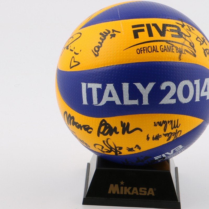Matchball Volley Italian SuperCup A1 2013/2014, signed
