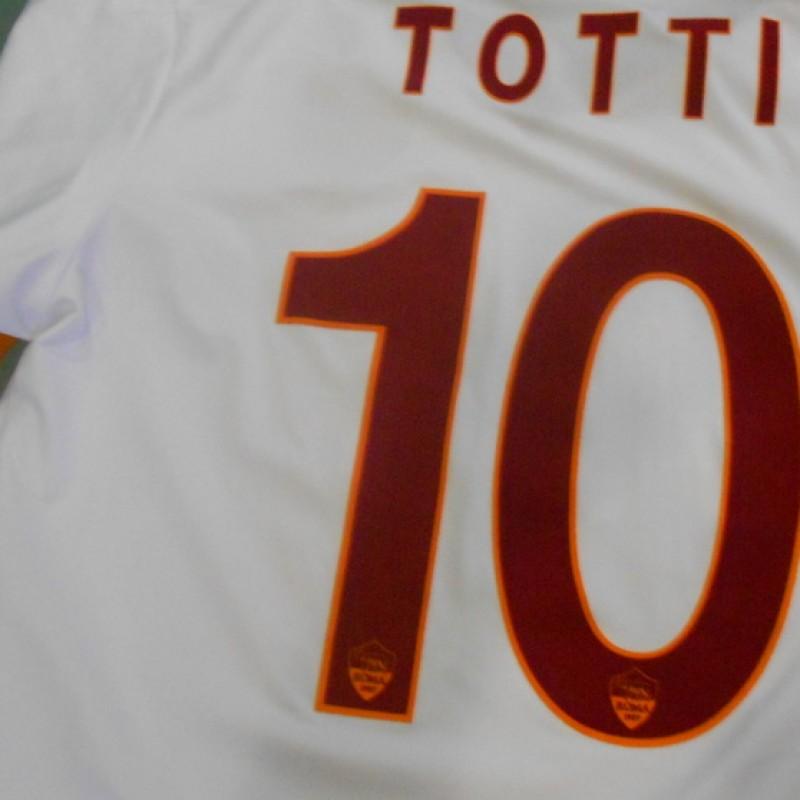 Francesco Totti's Football Shirt worn in the Milan-Roma match