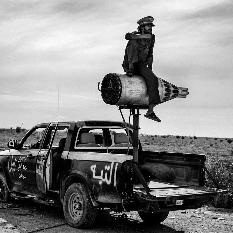 """Soldier on a rocket"" Photograph by Fabio Bucciarelli"