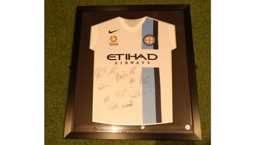 Melbourne City FC Signed and Framed 2014/15 Shirt