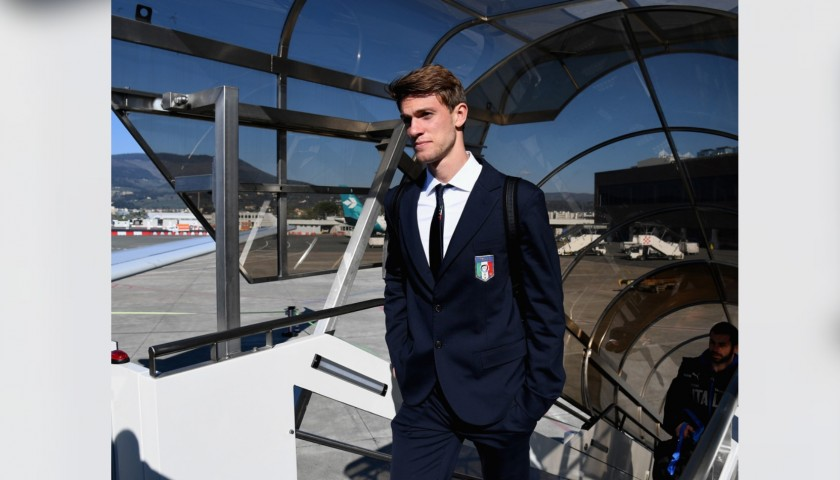 Italy National Football Team Suit Worn by Daniele Rugani