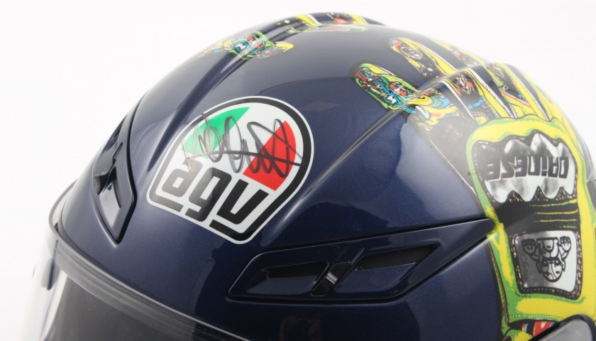 d97c1368728 Limited Edition Valentino Rossi signed helmet - n.1551 of 2000 - Moto GP  Mugello 2009