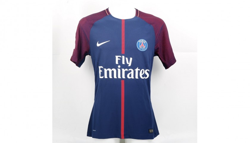 quite nice f3d47 2540c Mbappe's Signed Match-Issued/Worn PSG Shirt, 2017/18 - CharityStars