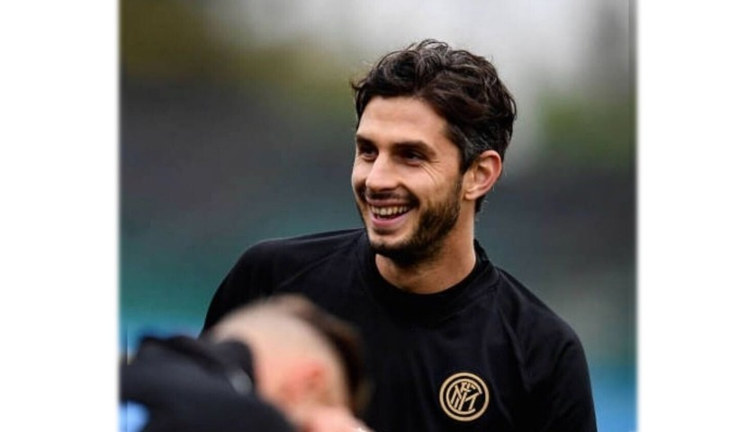 Official Inter Polo Shirt Worn by Andrea Ranocchia