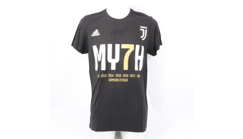 Juventus Scudetto #MY7H T-Shirt - Signed by Mandzukic