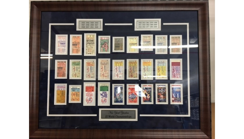 New York Yankees World Series Collection of 27 Tribute Tickets