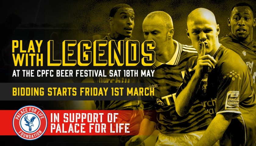 Play Centre Forward Alongside Crystal Palace F.C Legends John Salako and Fitz Hall