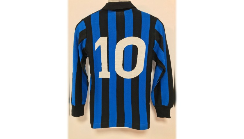 Atalanta Match Shirt Worn by  no. 10 - 1980s