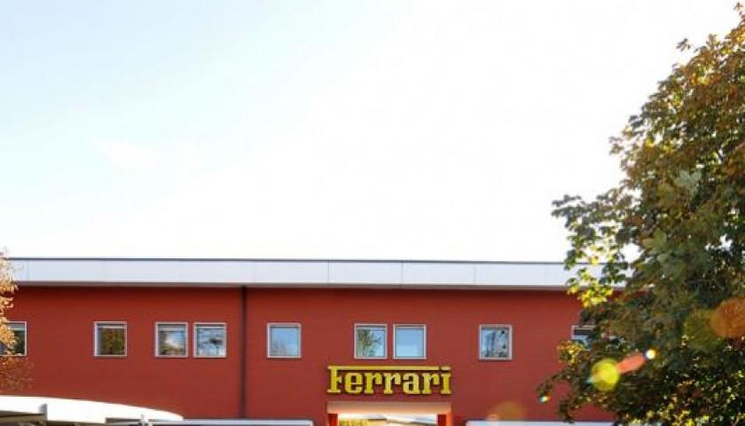 Engineer Piero Ferrari opens the doors of Maranello