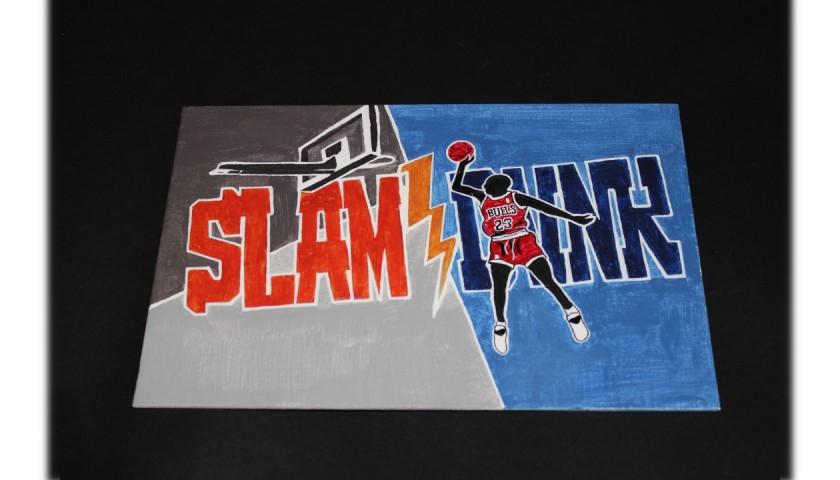 Slam Dunk Michael Jordan  - Unique Artwork by Manuel Frattini