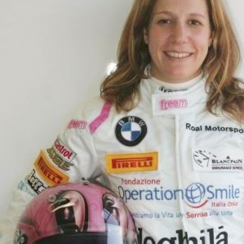 Race suit worn by Michela Cerruti, Blancpain Series Endurance 2013, Nurburgring - signed