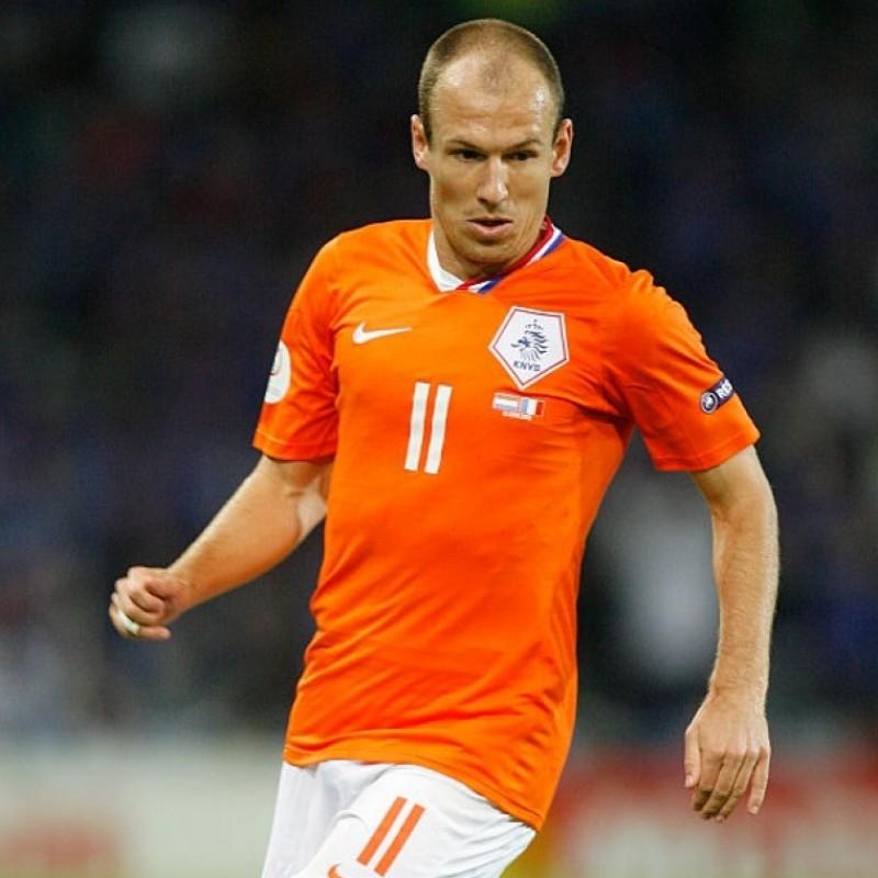 Robben's Official Netherlands Signed Shirt, 2008