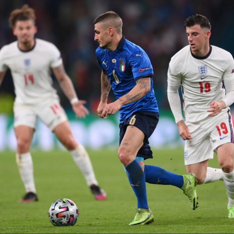 Verratti's Match Shirt, Italy-England 2021