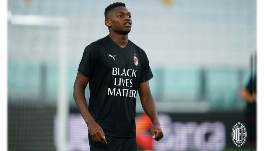 """""""Black Lives Matter"""" Training Shirt, Juventus-Milan - Signed by Leao"""