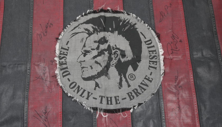 AC Milan Signed Diesel Flag - Limited Edition
