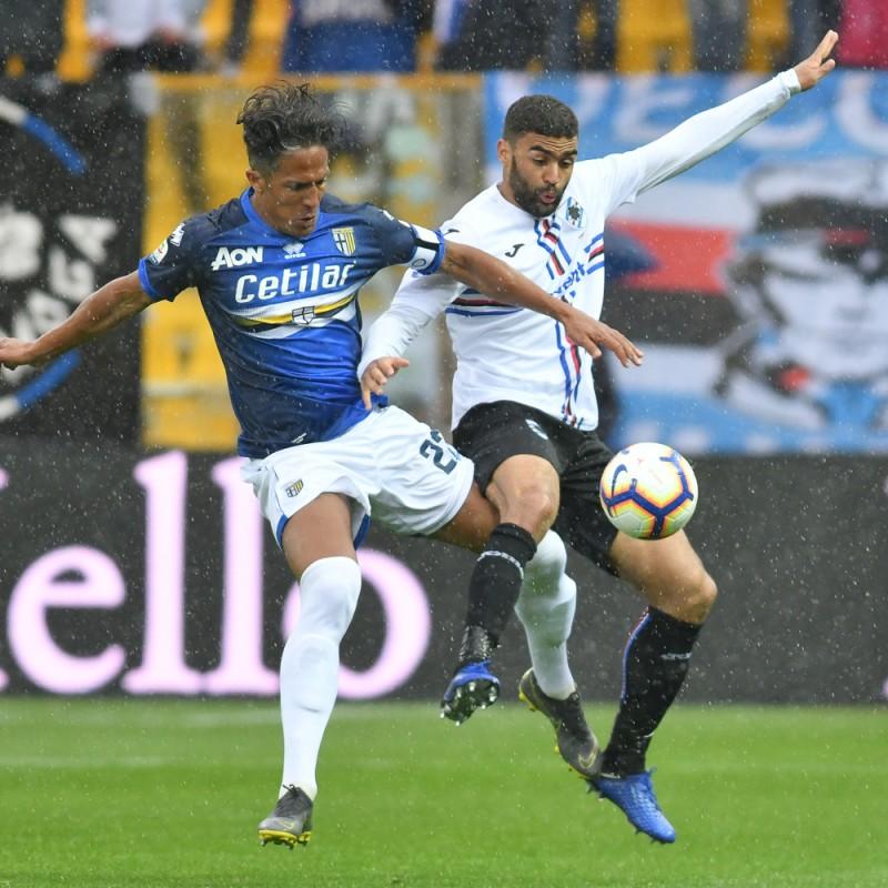 Defrel's Worn Shirt, Parma-Sampdoria - #Blucrociati