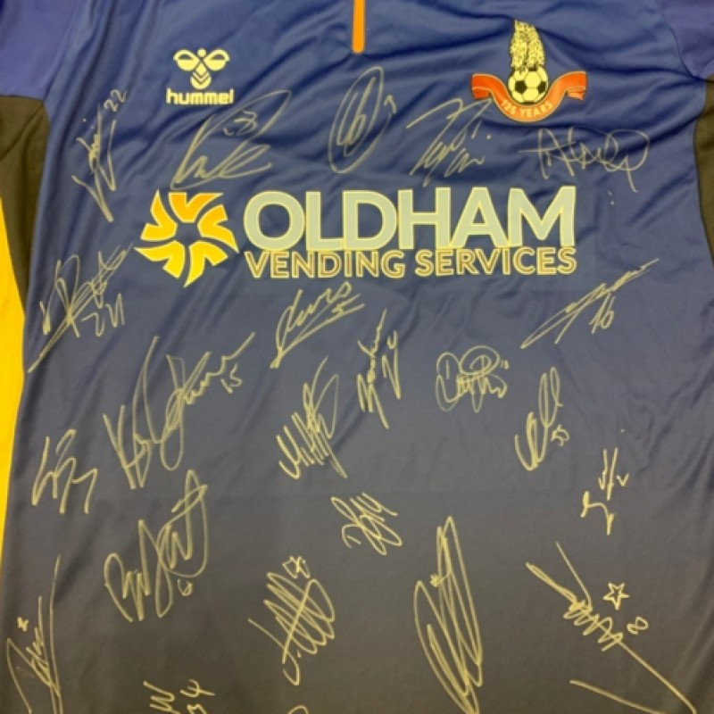 Oldham Athletic Home Shirt With 125 Year Crest