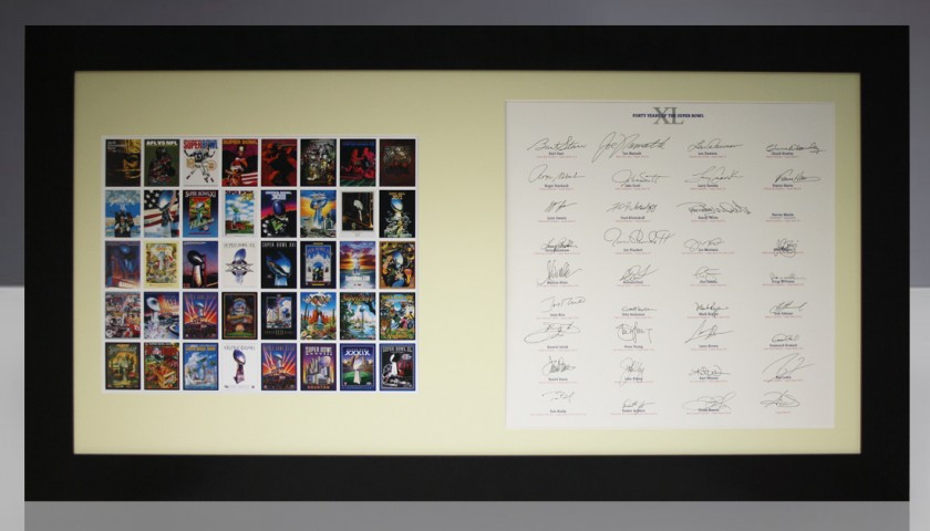 NFL Super Bowl Opus Signed by 36 Iconic MVP Players