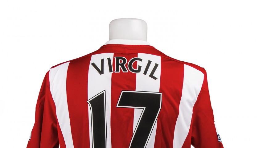 Virgil Van Dijk S Limited Edition Match Worn Breast Cancer Now Southampton Shirt Charitystars