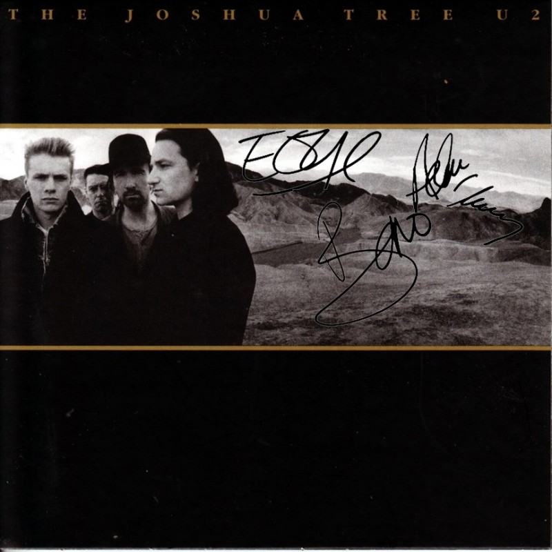 "U2 ""The Joshua Tree"" Album with Printed Signatures"