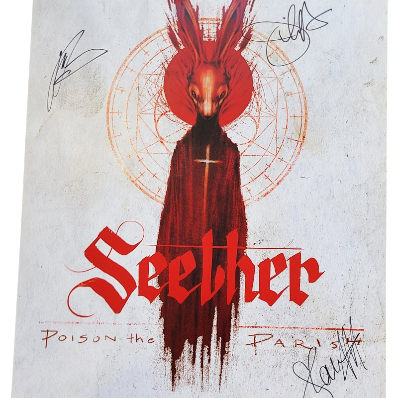 Seether Autographed Poster