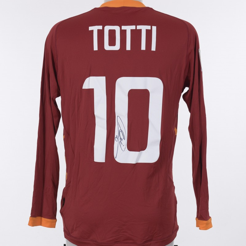 Francesco Totti's AS Roma Signed Shirt,  2011/2012