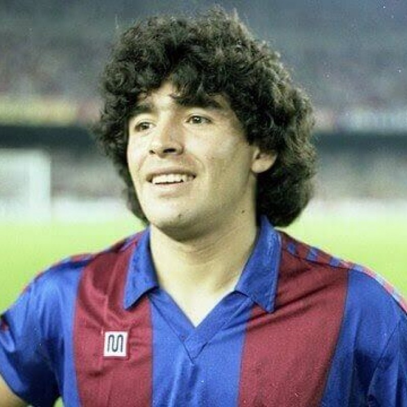 Maradona's Signed Match-Worn Barcelona Shirt, 1983/84