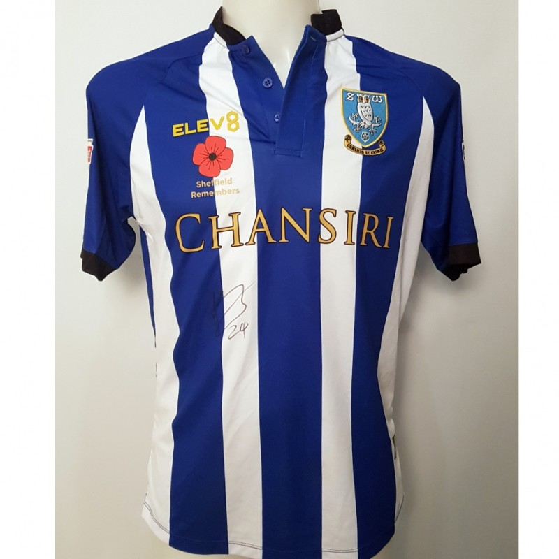 Ashley Baker's Sheffield Wednesday Worn and Signed Poppy Home Shirt