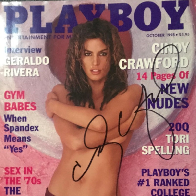 Cindy Crawford Signed October 1998 Playboy Magazine