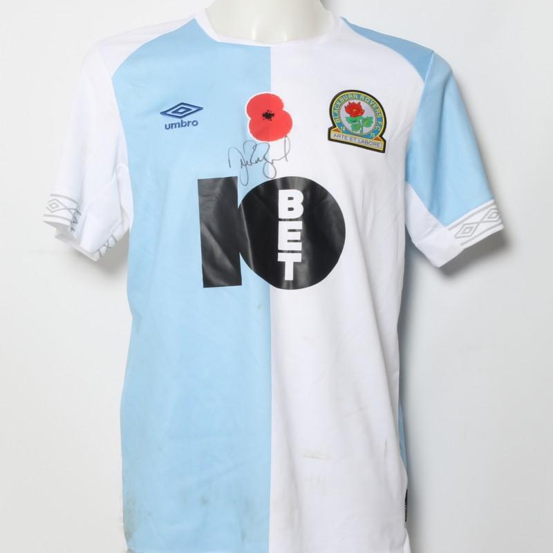 Amari'i Bell's Match-Worn Blackburn Rovers Signed Poppy Home Shirt