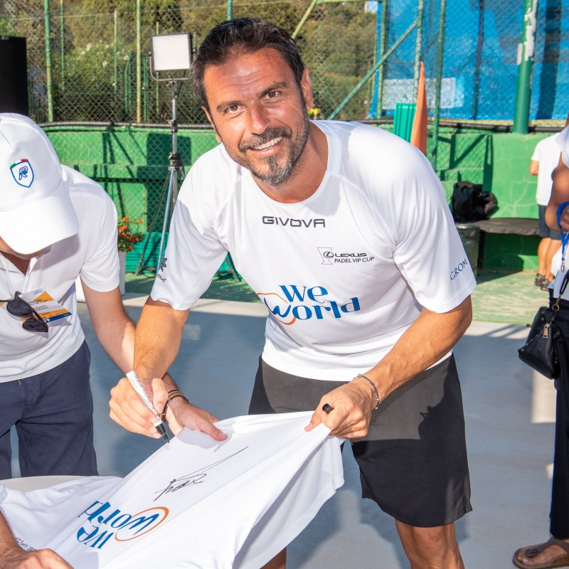 Fiore's Lexus Padel Vip Cup Worn and Signed Shirts
