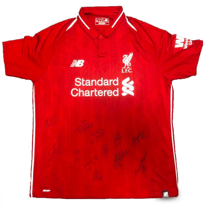 Liverpool FC 2018/19 Shirt Signed by First Team Players