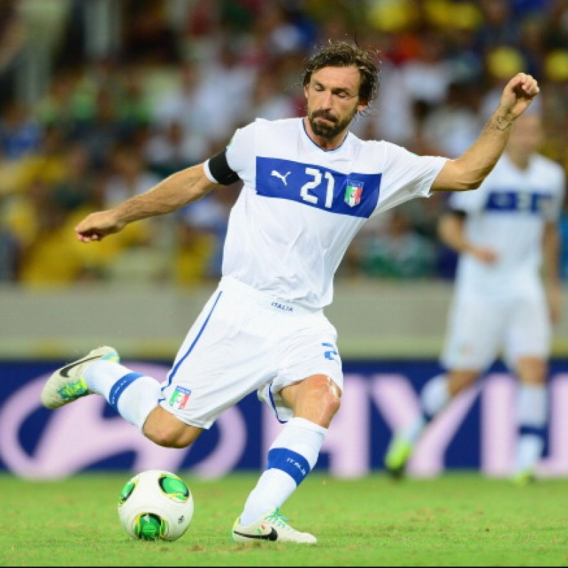 Pirlo's Official Italy Signed Shirt, 2012