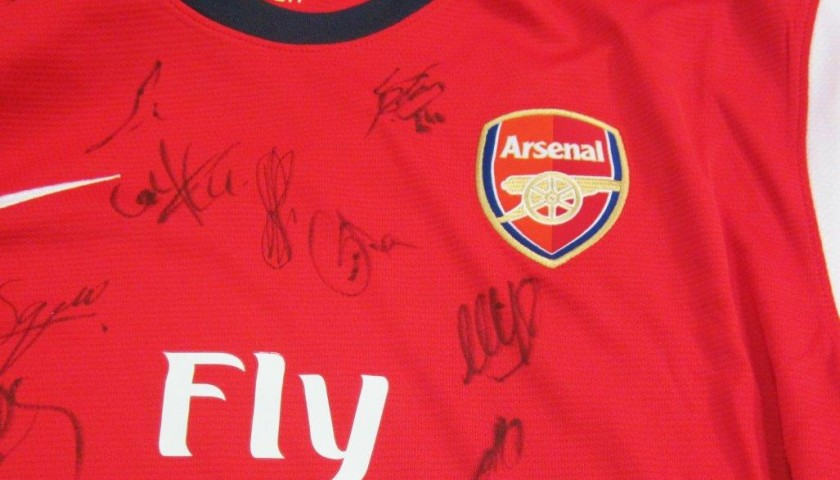 buy online bd42f fc076 Arsenal shirt Premier League 2013/2014 signed by the team, with Certificate  of Authenticity - CharityStars