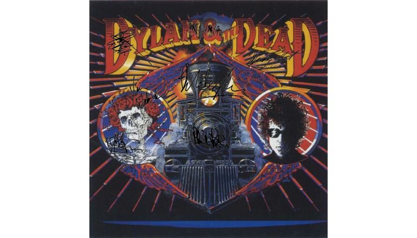 Grateful Dead Bob Dylan Album Flat with Digital Autograph