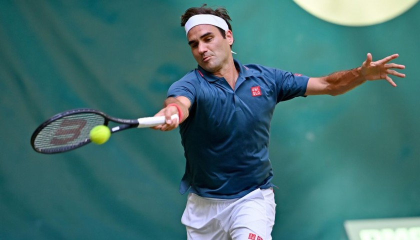 Wilson Racquet Signed by Roger Federer