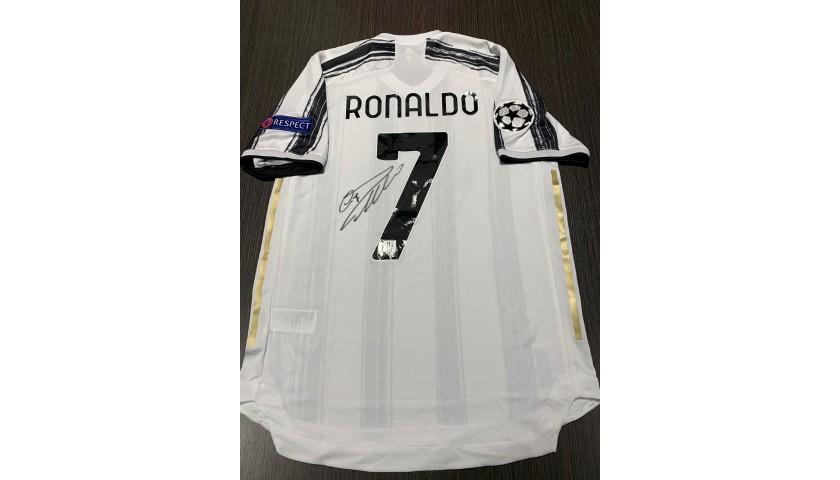 Ronaldo's Signed Match Shirt, Juventus-Lyon 2020