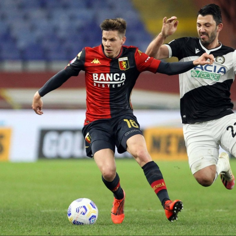Zajc's Genoa Signed Match Shirt, 2020/21