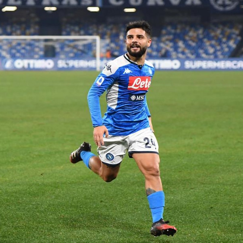Insigne's Napoli Worn and Signed Shirt, 2019/20